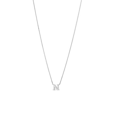 """""""N"""" Initial Necklace in Sterling Silver"""