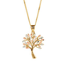 Gold chains buy gold necklaces online michaelhill tree of life pendant in 10ct yellow white rose gold aloadofball Choice Image