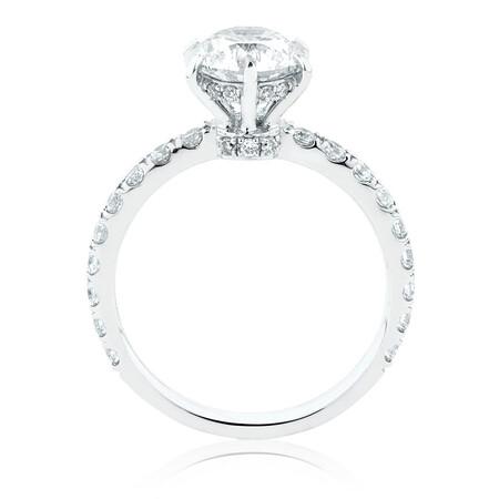 Sir Michael Hill Designer GrandAria Engagement Ring With 2.02 Carat TW Of Diamonds In 14ct White & Rose Gold