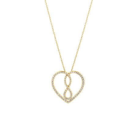 Medium Infinitas Pendant with 0.34 Carat TW of Diamonds in 10ct Yellow Gold