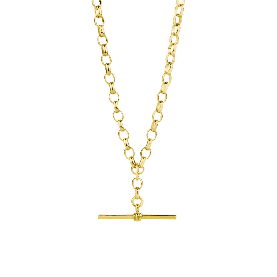 "50cm (20"") Belcher Fob Chain in 10ct Yellow Gold"