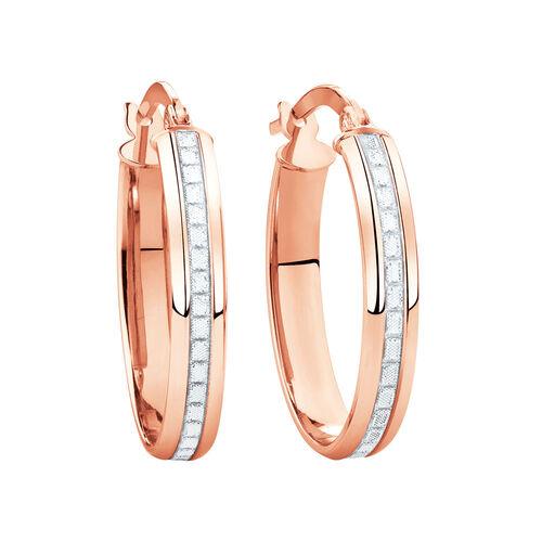 Glitter Hoop Earrings in 10ct Rose Gold