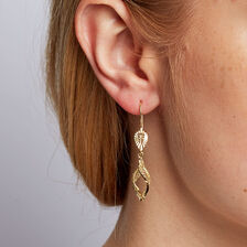 Drop Earrings in 10ct Yellow Gold