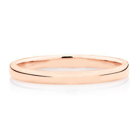 High Domed Wedding Band in 10ct Rose Gold