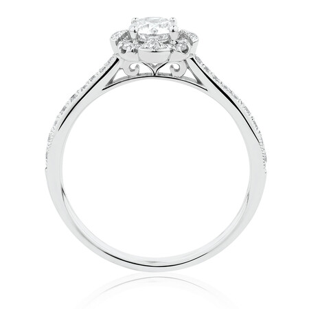 Engagement Ring with 0.61 Carat TW of Diamonds in 14ct White Gold