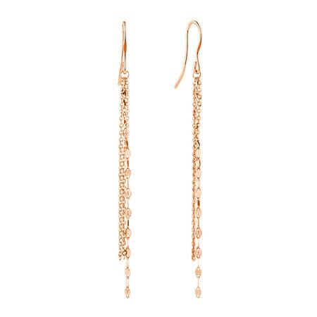 Triple Strand Drop Earrings in 10ct Italian Rose Gold