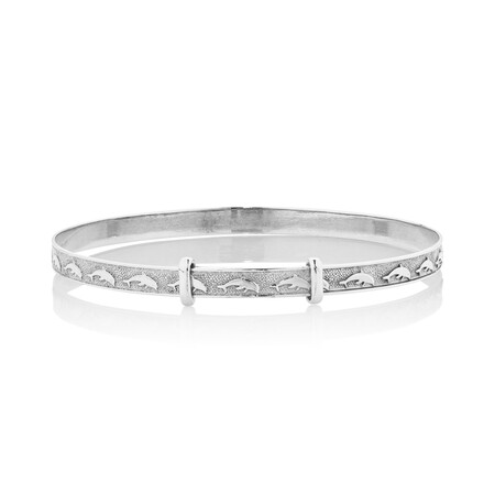 Expandable Baby Bangle in 10ct White Gold
