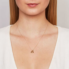 Diamond Shape Pendant in 10ct Yellow Gold