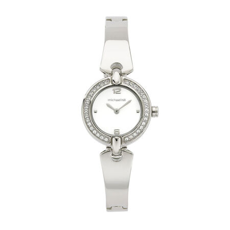 Ladies Watch with Crystals in Stainless Steel