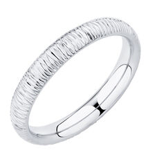 Patterned Ring in 10ct White Gold