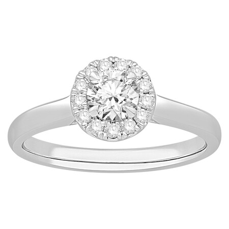 Ring with 0.60 Carat TW of Diamonds in 14ct White Gold
