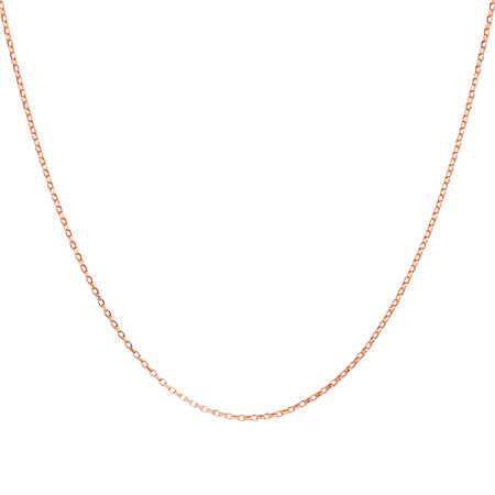 "40cm (16"") Fine Belcher Chain in 10ct Rose Gold"