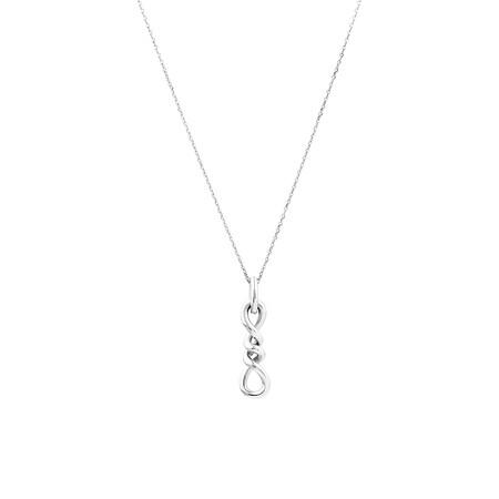 Double Vertical Loop Pendant In Sterling Silver