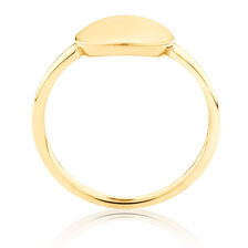 Plain Circle Mini Signet Ring In 10ct Yellow Gold