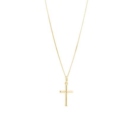 Cross Pendant in 10ct Yellow Gold