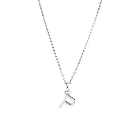 """""""P"""" Initial Pendant in Sterling Silver"""