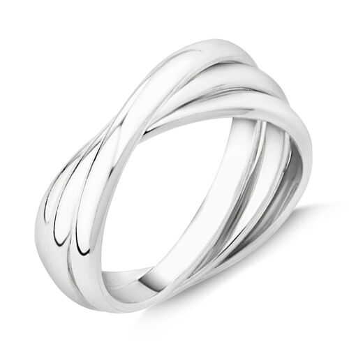 Triple Band Ring In Sterling Silver