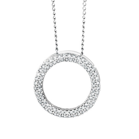 Pendant with 1/4 Carat TW of Diamonds in 10ct White Gold