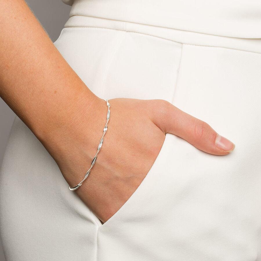 """19cm (7.5"""") Twist Bracelet in Sterling Silver"""