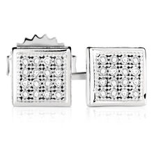 Online Exclusive - Stud Earrings with Diamonds in Sterling Silver