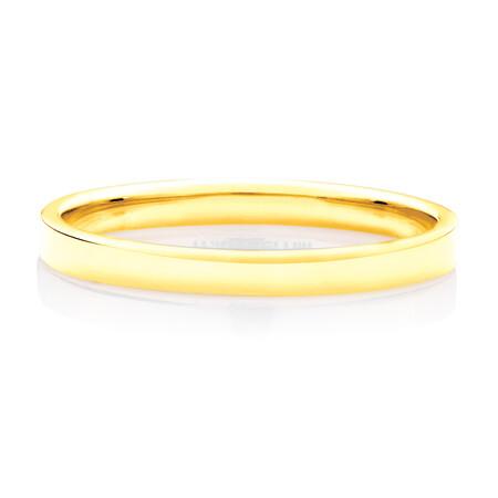 Lite Half Round Wedding Band in 10ct Yellow Gold
