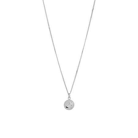 Sagittariu Zodiac Pendant in Sterling Silver