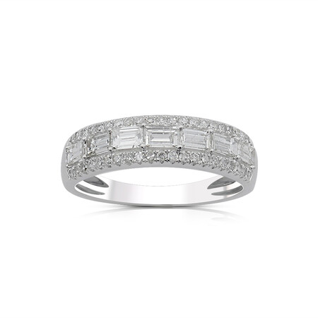 Ring with 1.00 Carat TW of Diamonds in 10ct White Gold