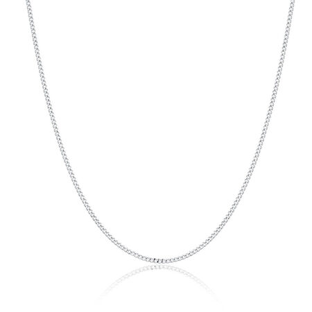 "55cm (22"") Men's Curb Chain in Sen Silver"