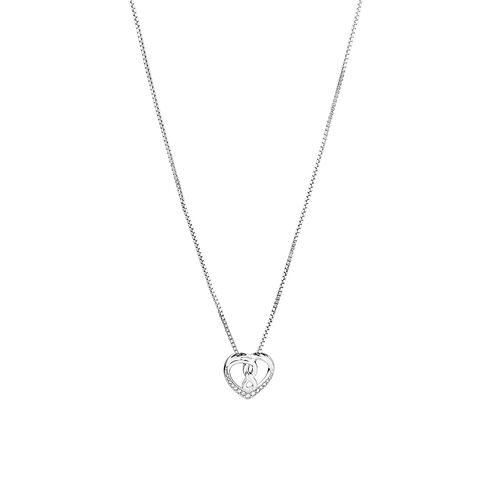 Heart infinitas Pendant with Diamonds in Sterling Silver