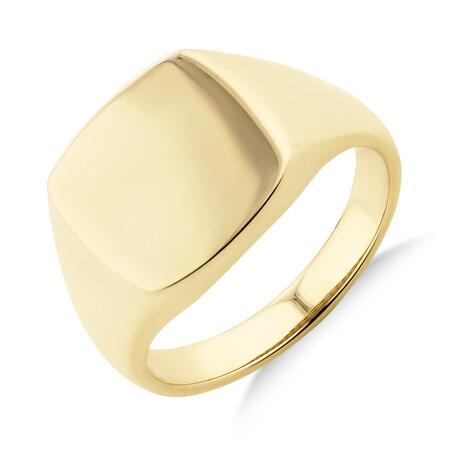 Men's Signet Ring in 10ct Yellow Gold