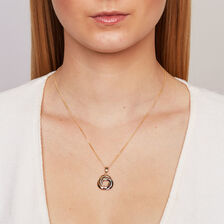 Pendant in 10ct Yellow, White & Rose Gold