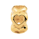 10ct Yellow Gold Open Heart Charm
