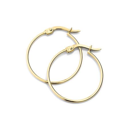 22mm Hoop Earrings in 10ct Yellow Gold