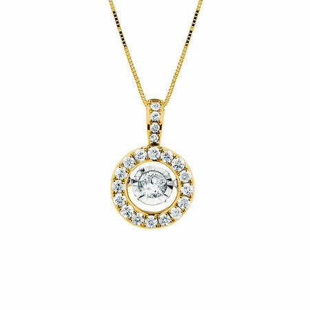 Everlight Pendant with 1 Carat TW of Diamonds in 14ct Yellow Gold