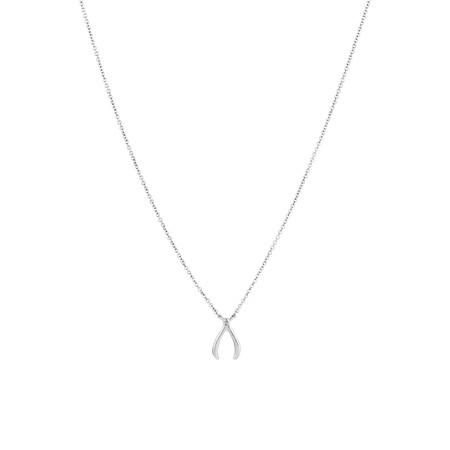 Wishbone Pendant in Sterling Silver