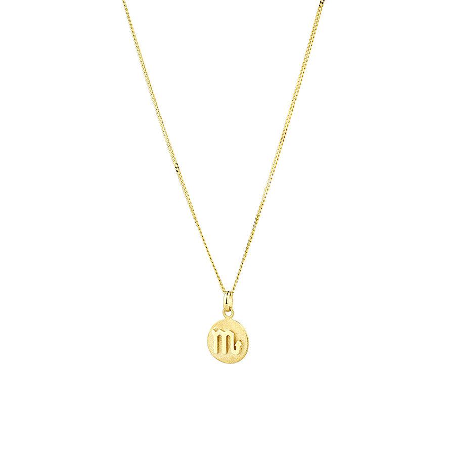 Scorpio Zodiac Pendant in 10ct Yellow Gold