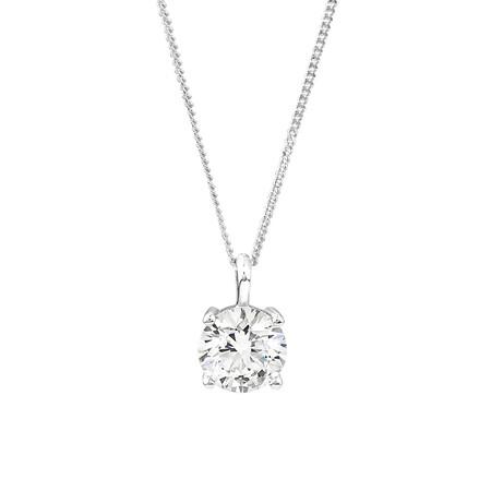 Laboratory-Created 1.50 Carat Diamond Pendant in 14ct White Gold