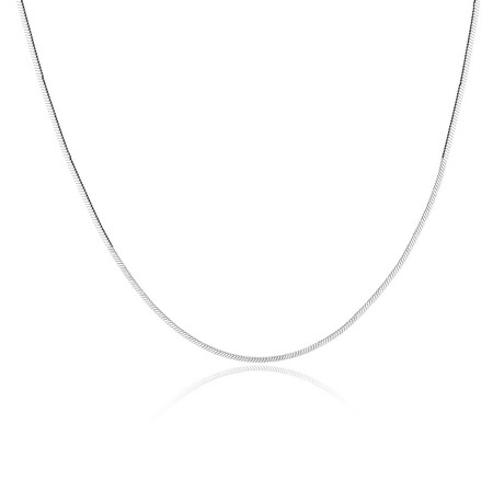 """45cm (18"""") Flat Snake Chain in Sterling Silver"""