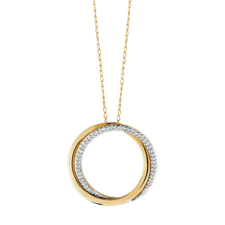 Pendant with Diamonds in 10ct Yellow Gold