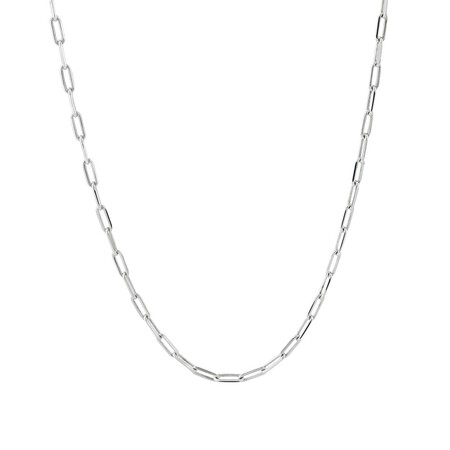 60cm Paperclip Chain in Sterling Silver