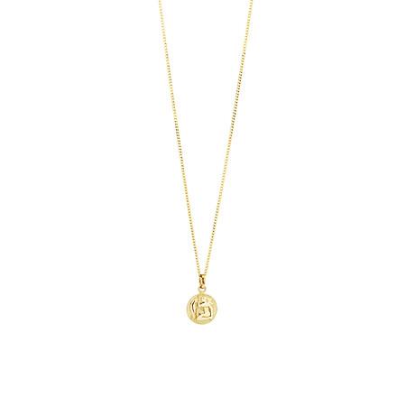 Aquarius Zodiac Pendant in 10ct Yellow Gold