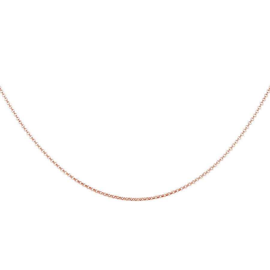 "50cm (20"") Hollow Belcher Chain in 10ct Rose Gold"