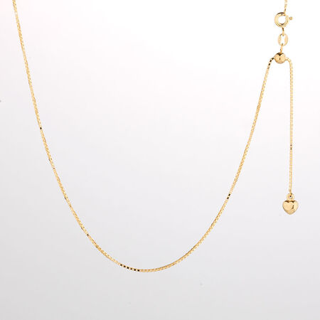 "Online Exclusive - 50cm (20"") Box Chain in 10ct Yellow Gold"