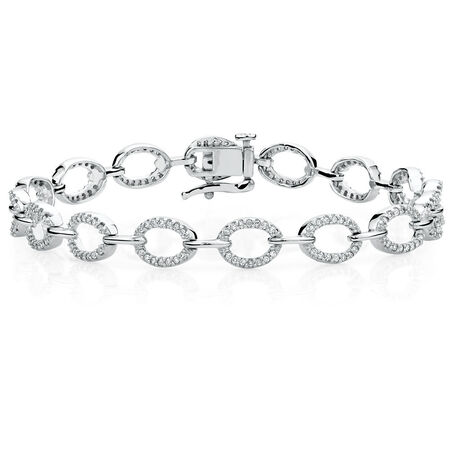 Online Exclusive - Tennis Bracelet with 3/4 Carat TW of Diamonds in 10ct White Gold
