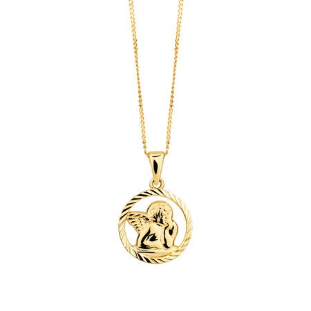 Cherub Pendant in 10ct Yellow Gold