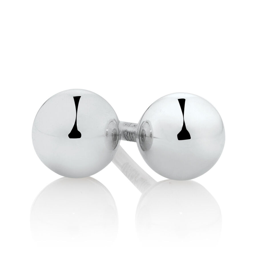 3mm Ball Stud Earrings in 10ct White Gold