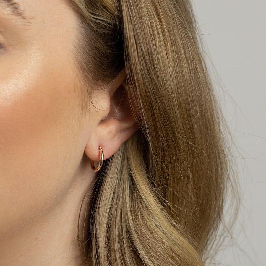 14mm Hoop Earrings in 10ct Rose Gold