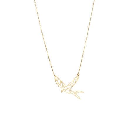 Flying Bird Pendant in 10ct Yellow Gold