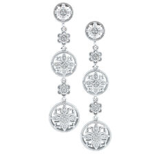 Drop Earrings with 0.15 Carat TW of Diamonds in Sterling Silver