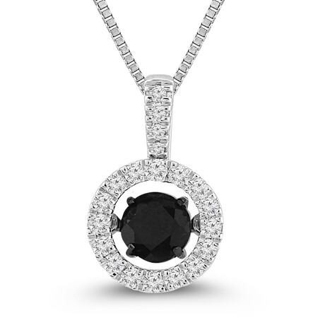 Everlight Pendant with Sapphire and 0.30 Carat TW of Diamonds in 10ct White Gold